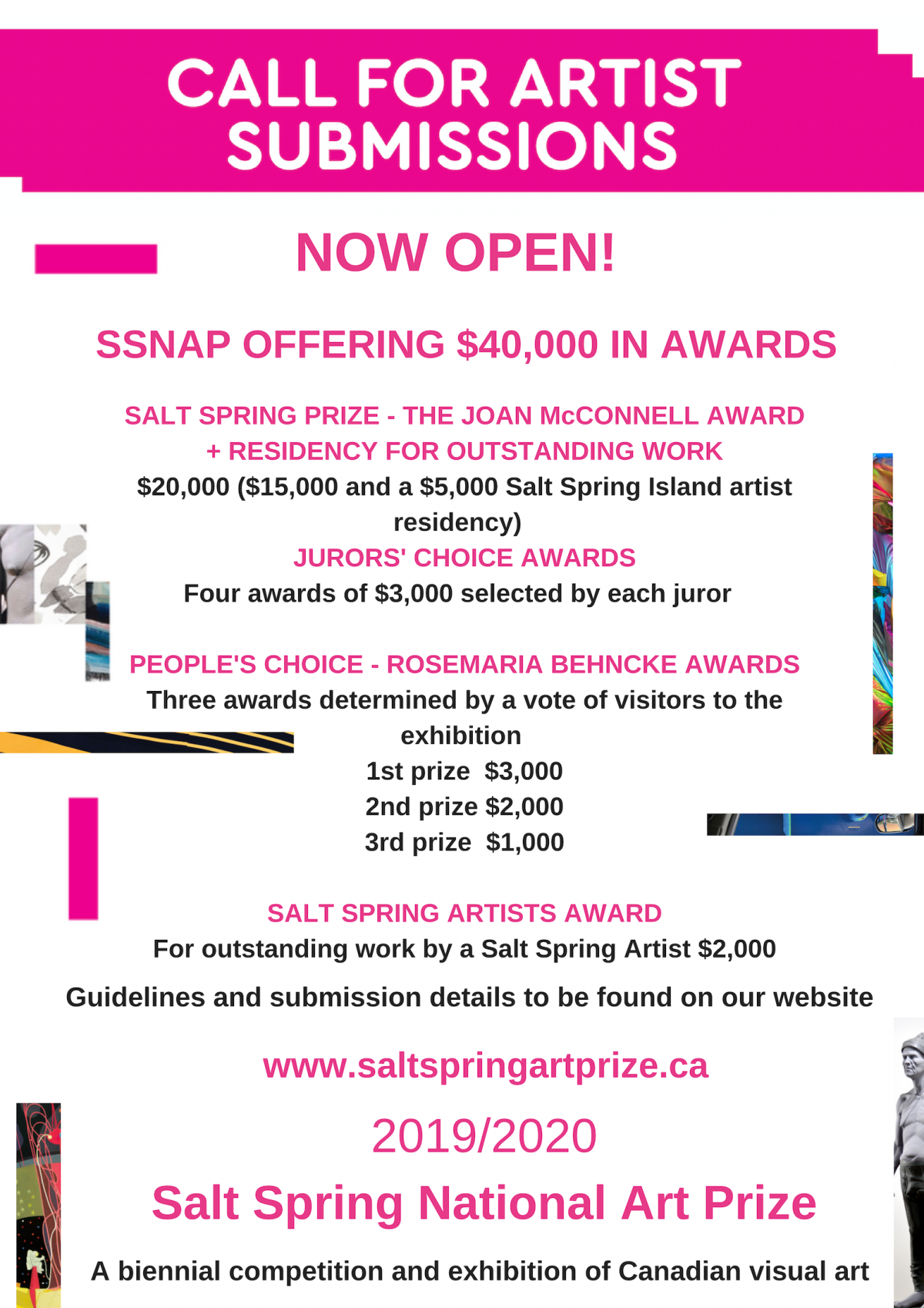 Call for artist submissions now open - Salt Spring Art Prize